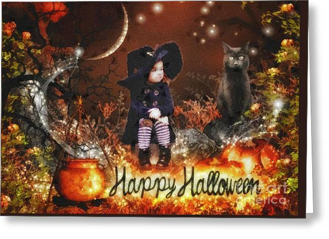 Halloween Girl Greeting Card