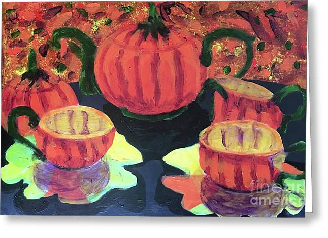 Greeting Card featuring the painting Halloween Holidays by Donald J Ryker III