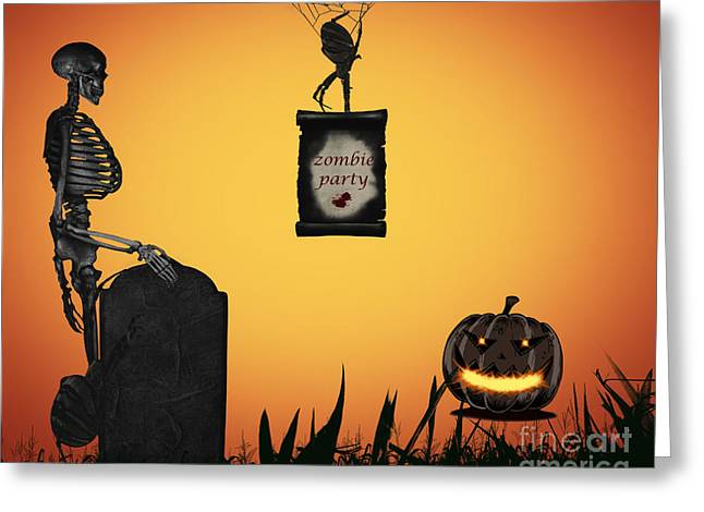 Halloween Party Night Greeting Card