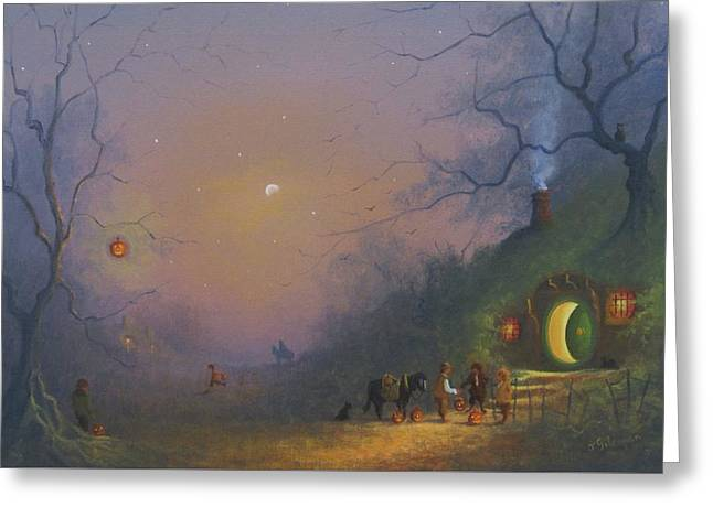 A Shire Halloween  Greeting Card