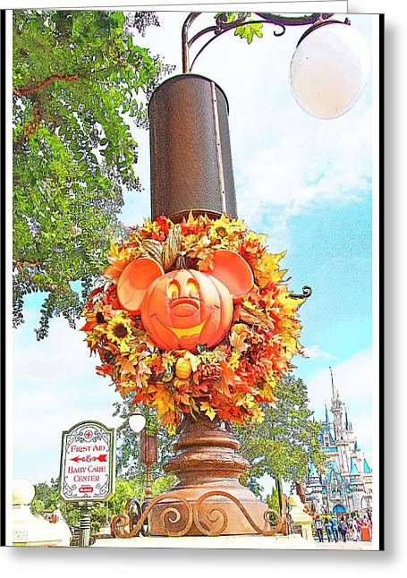 Halloween In Walt Disney World Greeting Card