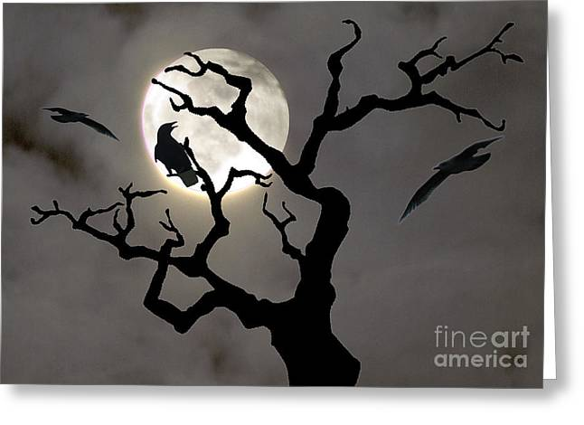 Halloween Greeting Card by Jim Wright