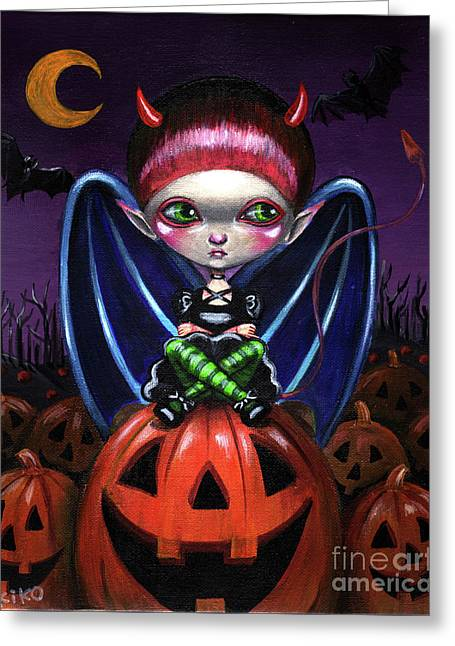 Halloween Little Devil Greeting Card