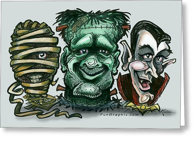 Halloween Monsters Greeting Card