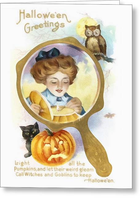 Halloween Owl Greeting Card by Unknown