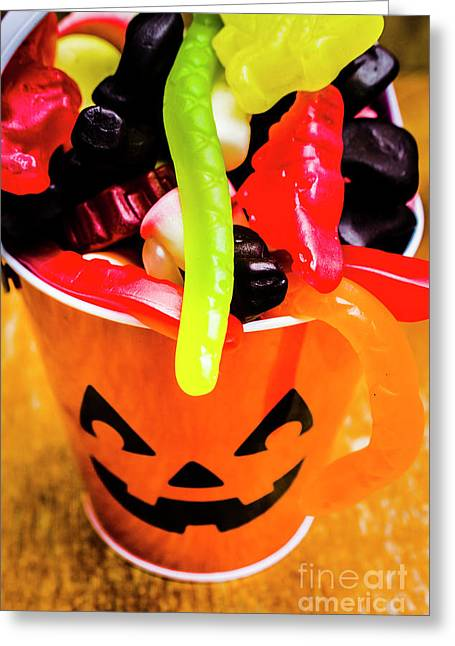 Halloween Party Details Greeting Card by Jorgo Photography - Wall Art Gallery