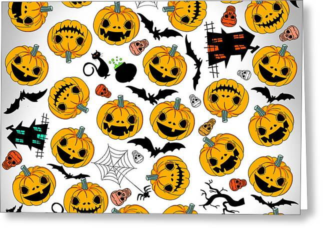 Halloween Party  Greeting Card by Mark Ashkenazi