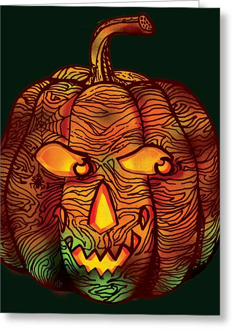 Halloween Pumpkin Greeting Card by Irina Effa