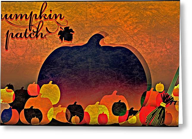 Halloween Pumpkin Patch Greeting Card
