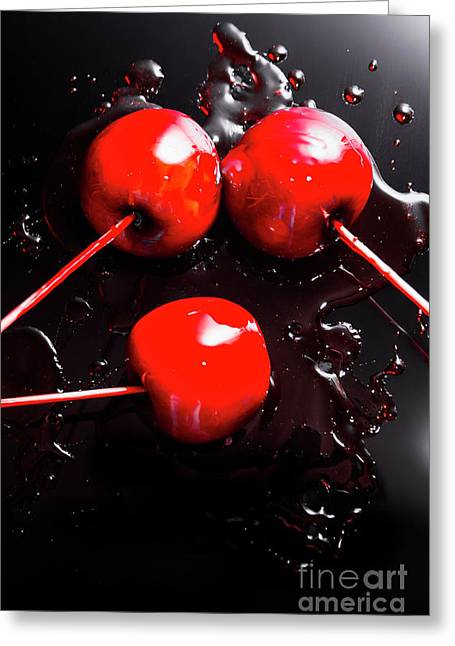 Halloween Toffee Apples Greeting Card