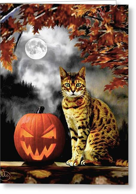 Halloween Tom Greeting Card by Ron Chambers