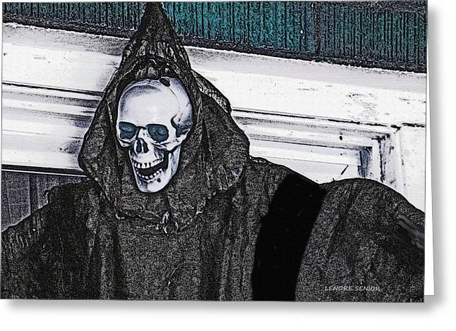 Halloween - Welcome Greeting Card by Lenore Senior