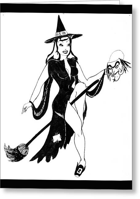 Halloween Witch  Greeting Card by Beverly Solomon Design