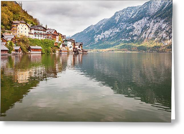 Greeting Card featuring the photograph Hallstat by Geoff Smith