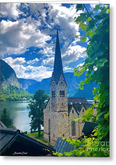 Hallstatt Church Greeting Card