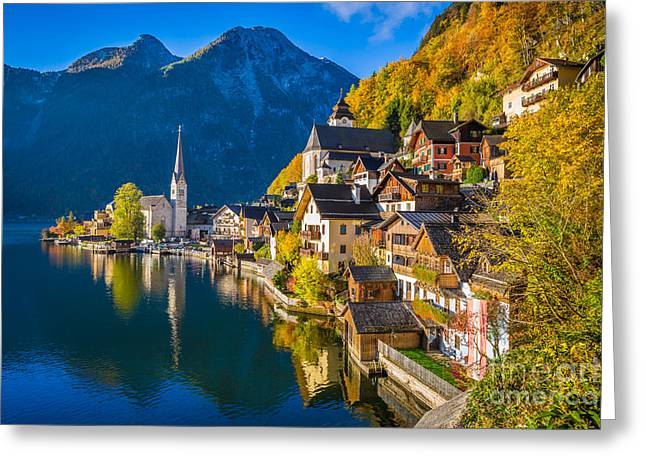 Hallstatt In Fall Greeting Card