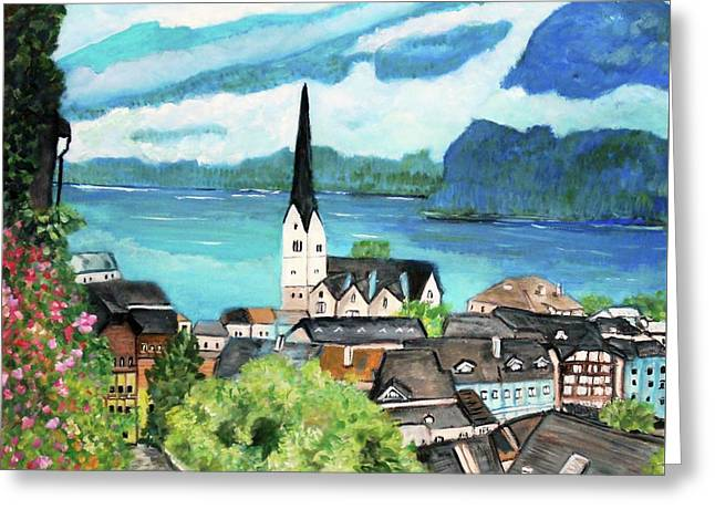 Hallstatt In Upper Austria  Greeting Card