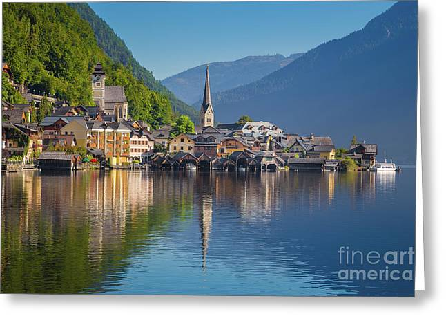 Hallstatt Reflections Greeting Card
