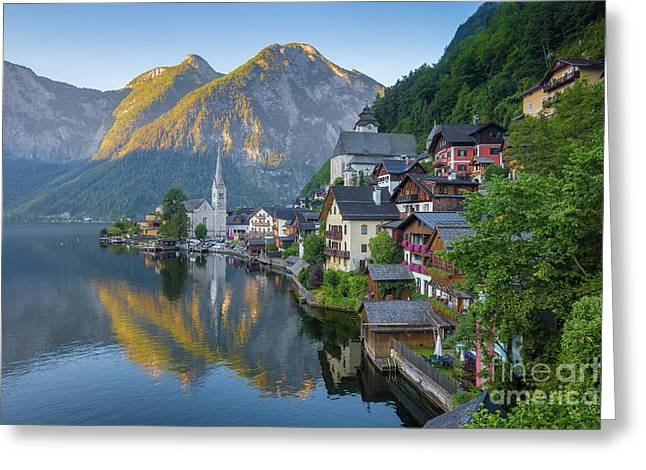 Hallstatt Sunrise Greeting Card