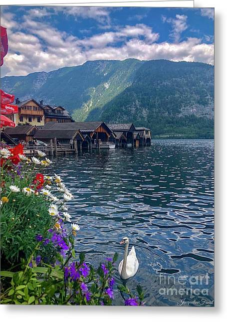 Hallstatt Swan Greeting Card