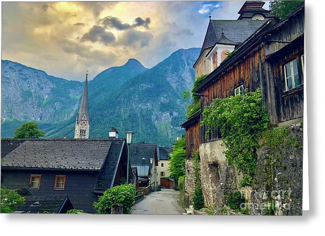 Hallstatt Village Stroll Greeting Card