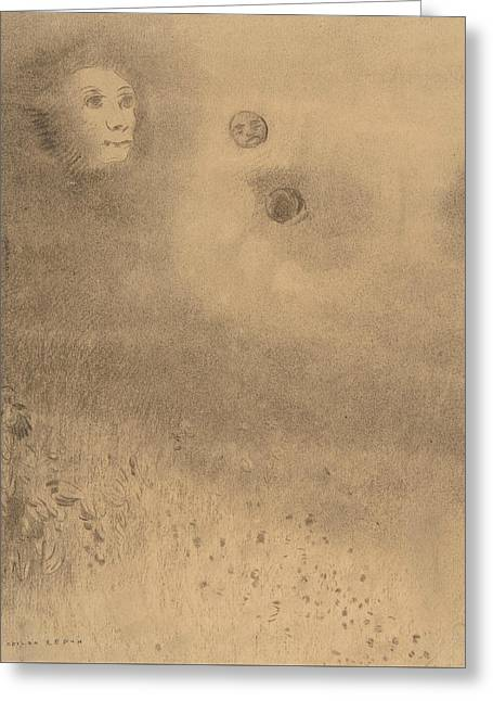 Hallucinations Greeting Card by Odilon Redon