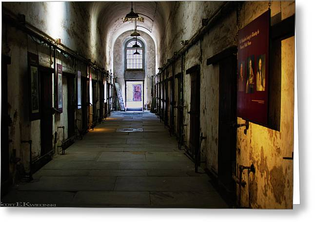 Hallway At Eastern State Penitentiary  Greeting Card by Scott Kwiecinski