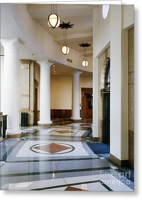 Hallway In Texas State Capitol Greeting Card