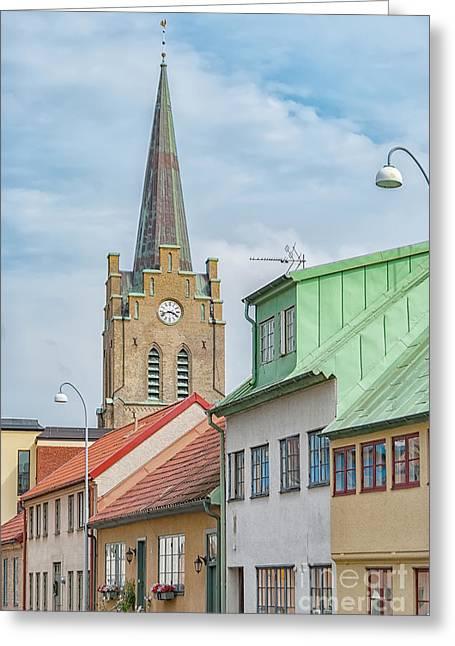 Greeting Card featuring the photograph Halmstad Street Scene by Antony McAulay
