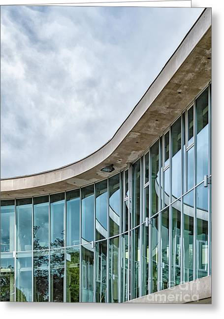 Greeting Card featuring the photograph Halmstad University Labrary Detail by Antony McAulay