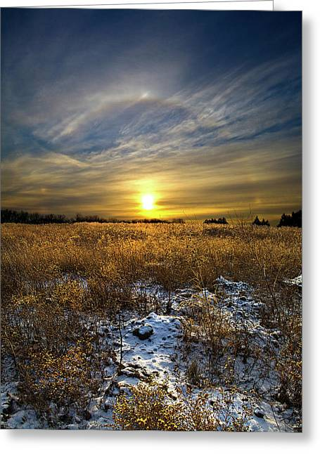 Halo Greeting Card by Phil Koch