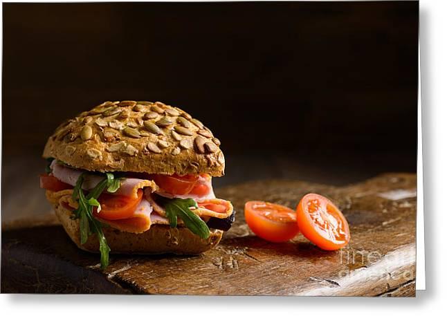 Ham Salad Roll Greeting Card