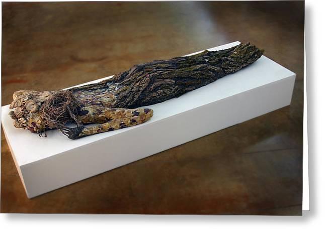 Fantasy Bark Greeting Cards - Hamadryad a sculpture by Adam Long Greeting Card by Adam Long