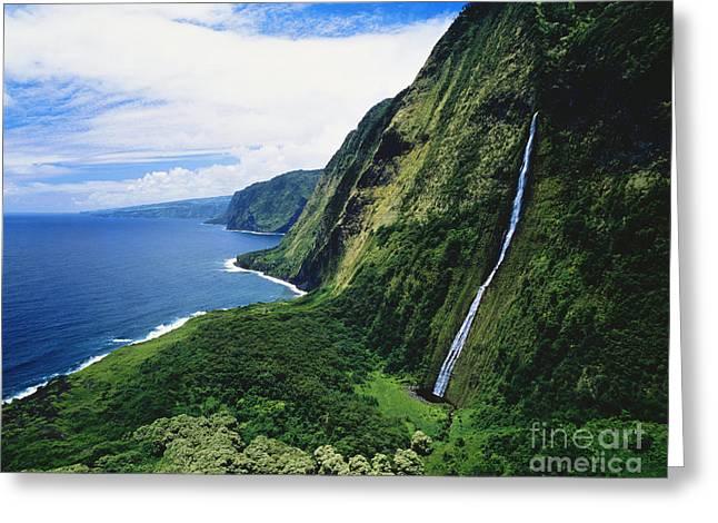 Hamakua Coast Waterfalls Greeting Card
