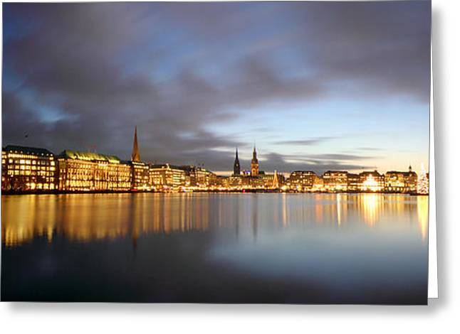 Hamburg Alster Christmas Time Greeting Card