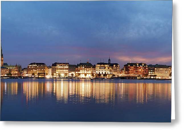 Hamburg Alster Panorama Greeting Card