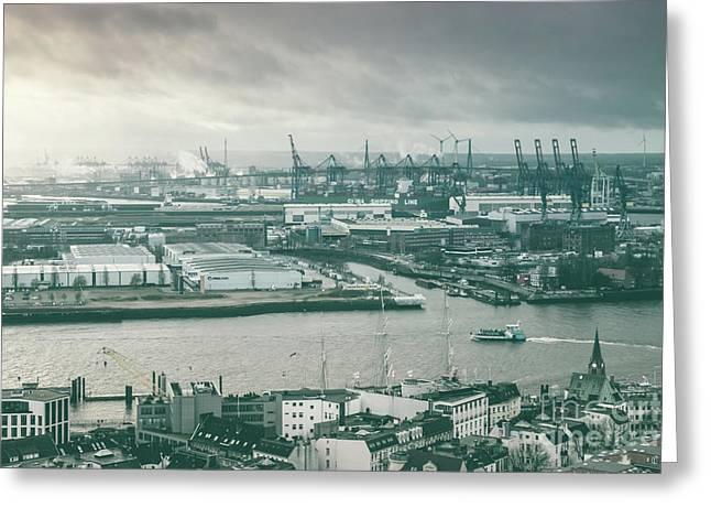 Hamburg Port  Greeting Card