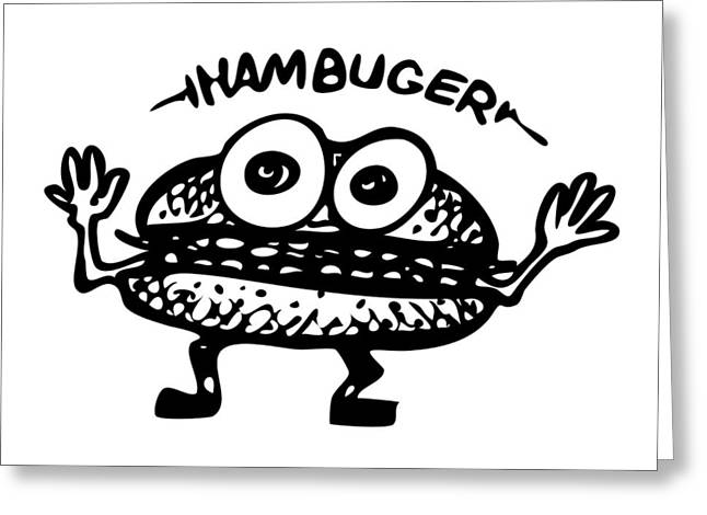 Hamburger - Hambuger Greeting Card