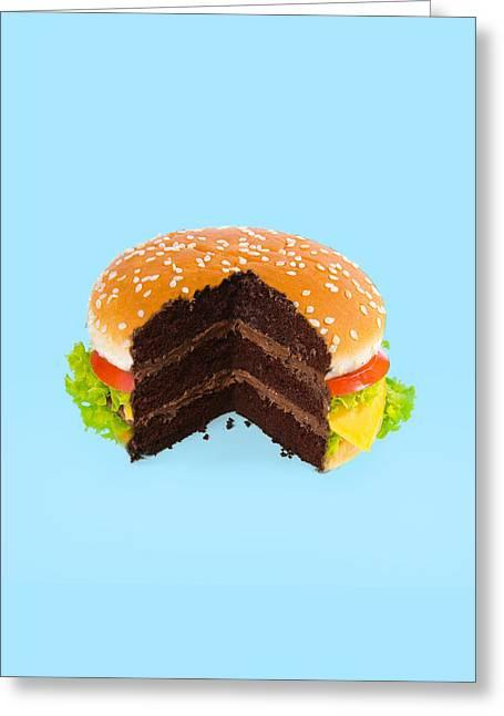 Hamburger Cake Greeting Card