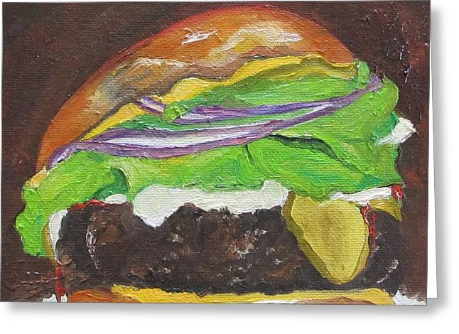 Hamburger Heaven Greeting Card by Irit Bourla