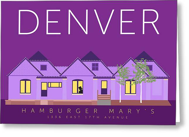 Greeting Card featuring the digital art Hamburger Mary's by Sam Brennan