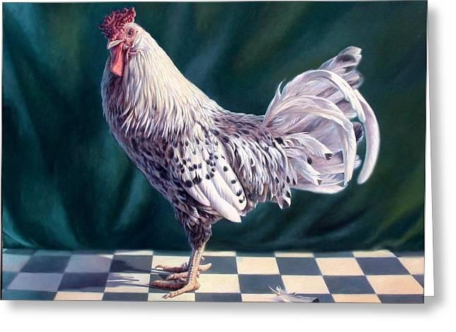 Hamburger Rooster Greeting Card by Hans Droog
