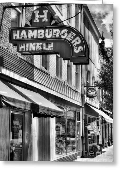 Hamburgers In Indiana Bw Greeting Card