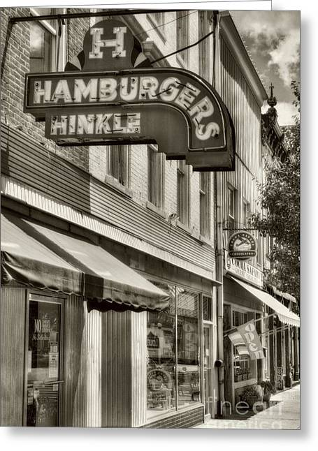 Hamburgers In Indiana Sepia Tone Greeting Card