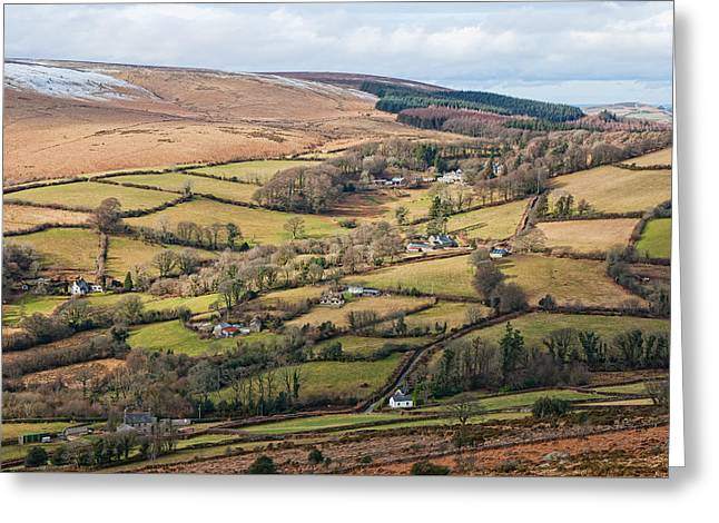 Hamel Down From Honeybag Tor Greeting Card by Pete Hemington