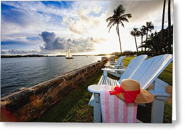 Hamilton Bay Sunset  Greeting Card by George Oze