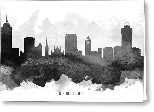 Hamilton Cityscape 11 Greeting Card by Aged Pixel