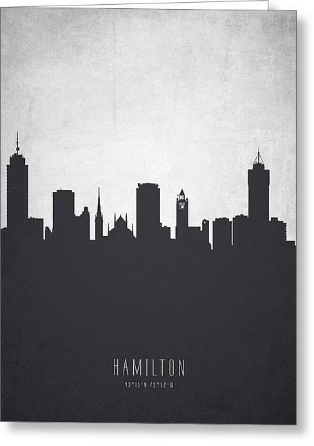Hamilton Ontario Cityscape 19 Greeting Card by Aged Pixel