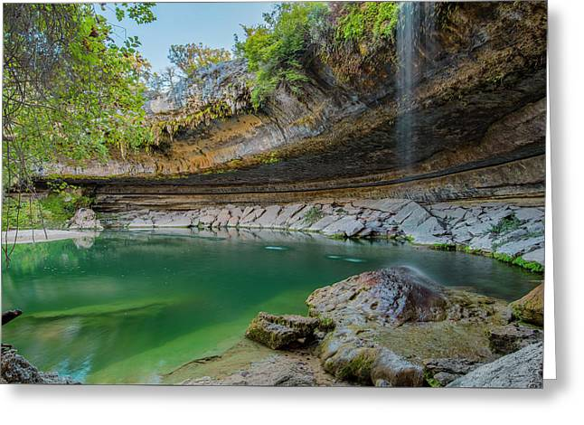 Hamilton Pool In The Texas Hill Country In October 1 Greeting Card by Rob Greebon