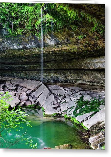 Hamilton Pool Greeting Card by Mark Weaver
